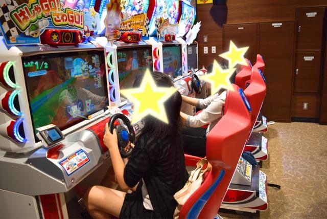 マリオカート♪普段施設ではしないゲームも今日は特別に♪
